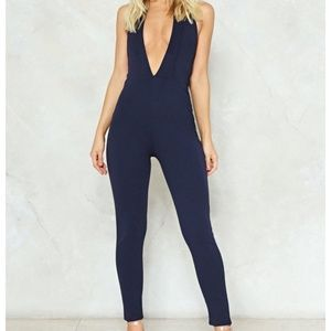 4 NWT Nasty Gal Plunge Straight in Halter Jumpsuit
